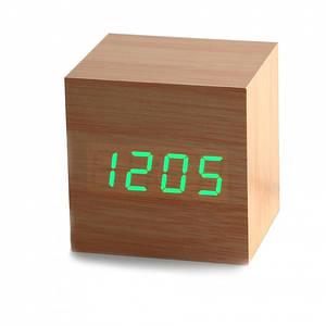 ✅  Часы будильник дерево wood clock