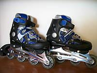 Раздвижные роликовые коньки Profi Roller NEW синие 30-35 р., фото 1