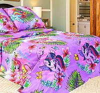 Детская постель Единорог. Полуторный комплект детского постельного белья. Ткань Бязь, Коттон