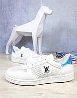 Кеды женские летние  Белые сетка LV Louis Vuitton 1197 36,37,41