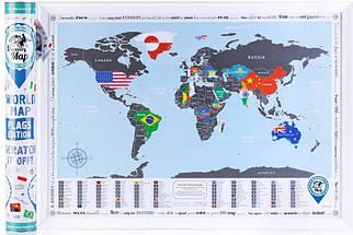 ✅  Скретч карта мира flags edition на английском языке