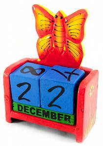 ✅  Вечный Календарь Цветущая Бабочка Red