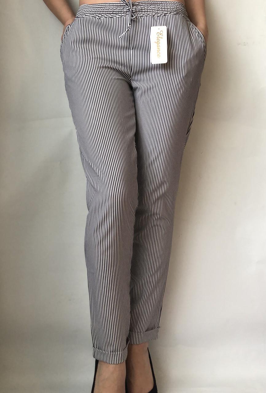 БАТАЛЬНЫЕ летние штаны N°17 Пл. (чорные)