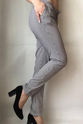 БАТАЛЬНЫЕ летние штаны N°17 Пл. (чорные), фото 2