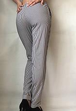 БАТАЛЬНЫЕ летние штаны N°17 Пл. (чорные), фото 3