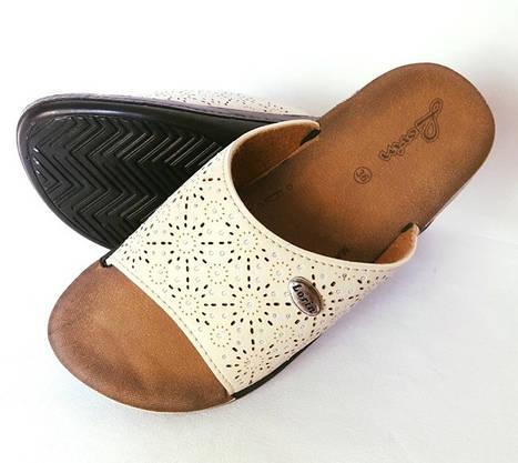 Женские Тапочки Шлёпанцы LORIN Сланцы Вьетнамки Бежевые (размеры: 36), фото 2