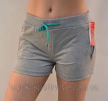 Шорты женские трикотажные короткие с карманами на молнии M - 3XL ( Венгрия ), фото 2
