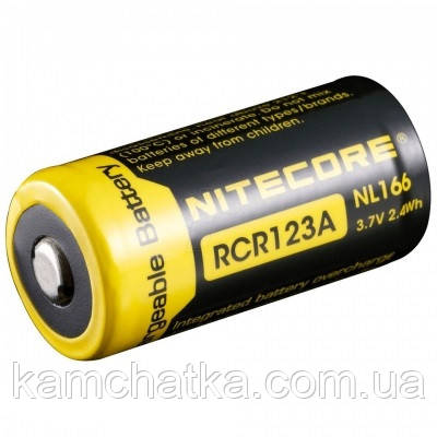Літієвий акумулятор Nitecore Li-Ion CR123A L166 3.7 V (650mAh), захищений
