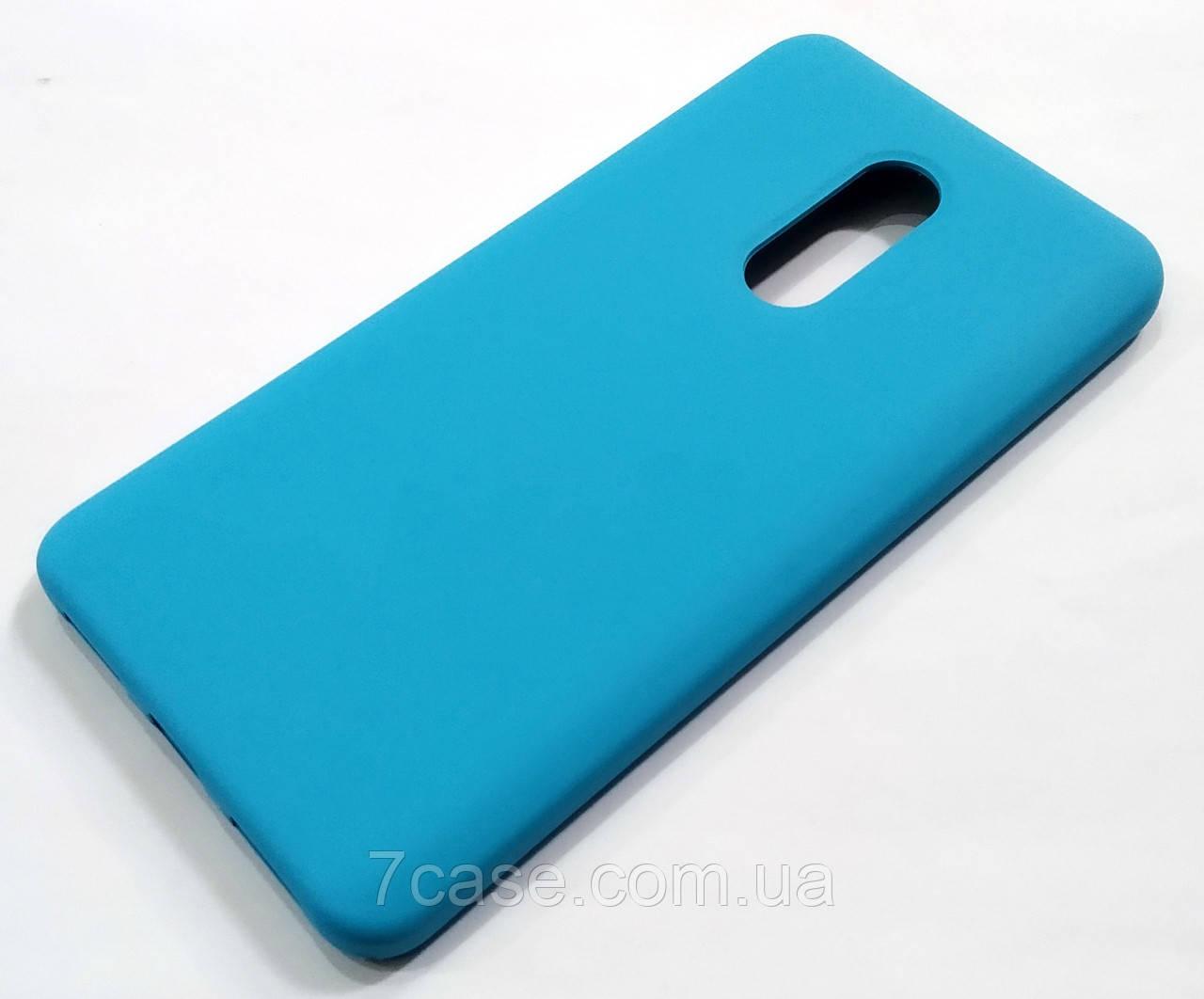 Чехол Silicone Case для Xiaomi Redmi Note 4X голубой