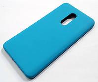 Чехол Silicone Case для Xiaomi Redmi Note 4X голубой, фото 1