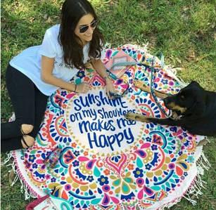✅  Пляжный коврик Happy time 140см