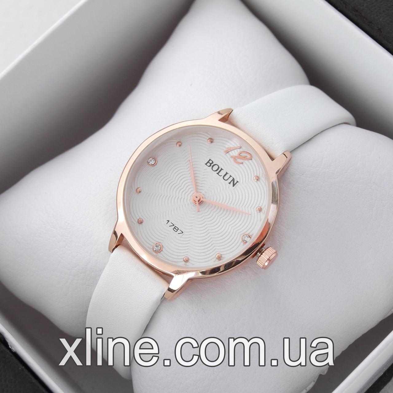 Жіночі наручні годинники Bolun 4979L на шкіряному ремінці