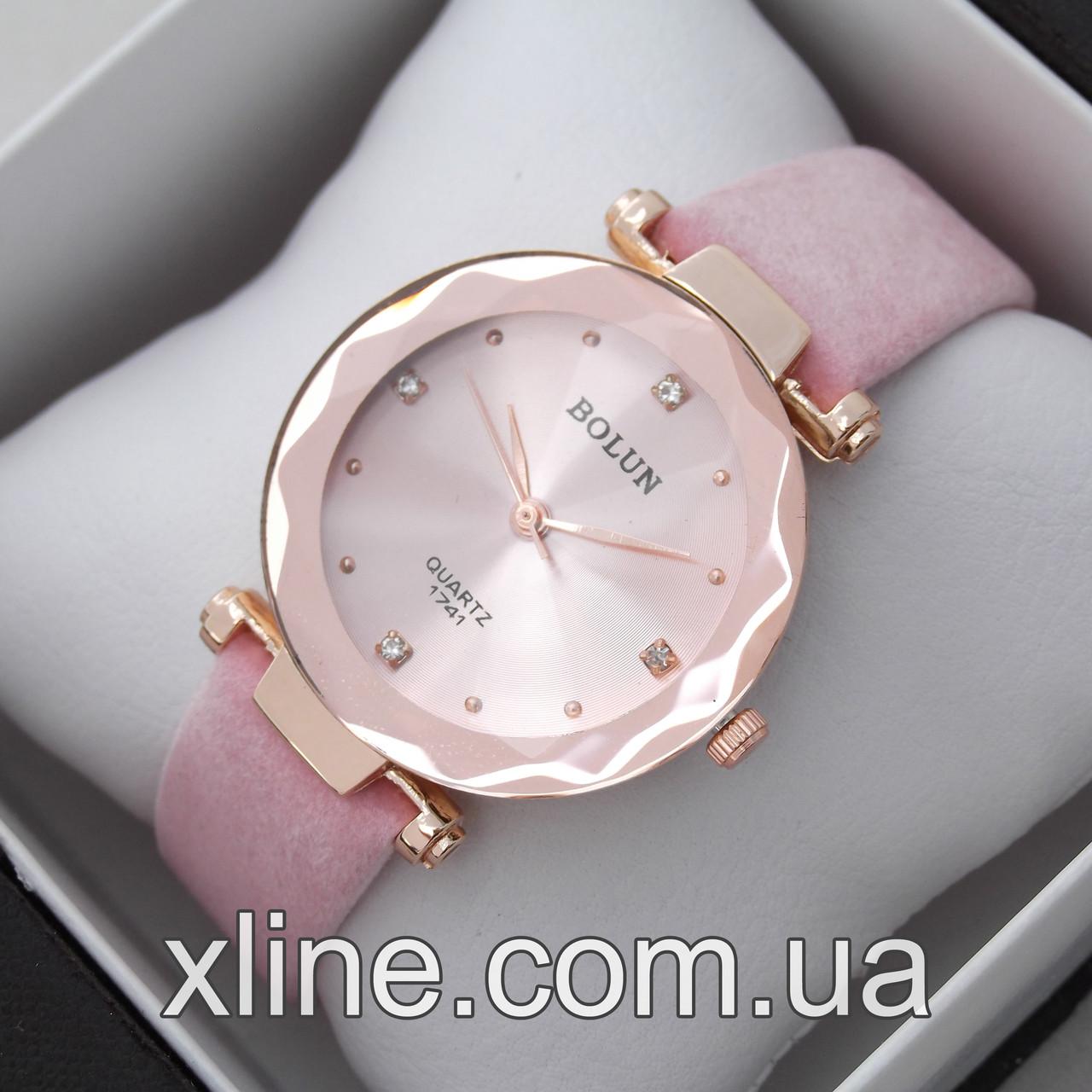 Жіночі наручні годинники Bolun 4840G на шкіряному ремінці