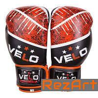 Боксерские перчатки Velo кожа 10-12oz