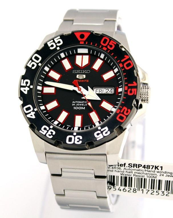 Часы Seiko 5 Sports SRP487K1 Automatic 4R36 Neo Monster