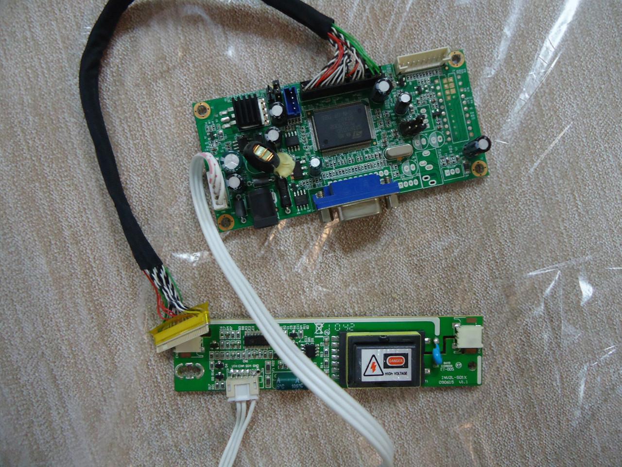 Комплект плат для ЖК монитора (материнская плата Ac204545 2621, инвертор INV2L-S01X и кабель 30 пин LVDS)
