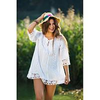 Легкая женская блуза, цвет - белый, М-2XL р-ры, 624/574 (цена за 1 шт. + 50 гр.)