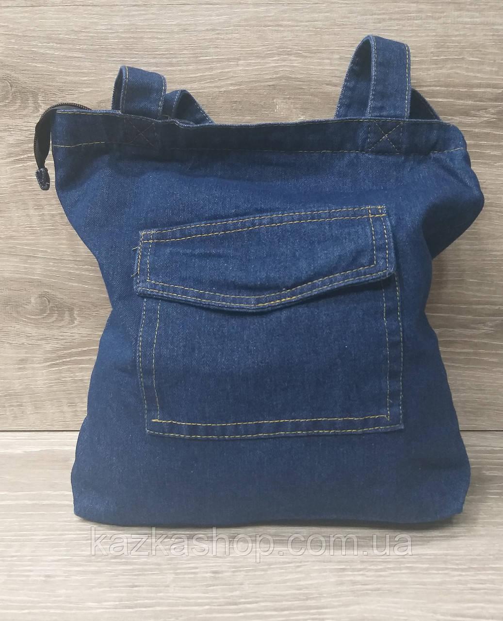 Джинсовая, текстильная сумка, прогулочная, без подклада, один основной отдел, без плечевого ремня
