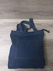 Джинсовая, текстильная сумка, прогулочная, без подклада, один основной отдел, без плечевого ремня, фото 2