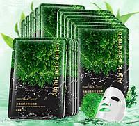 Bisutang Тканевая маска для лица с ниацином, экстрактами морских водорослей, алое и морского дуба