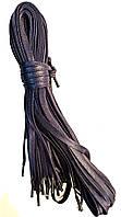 Шнурки Темно синие, океан плетение Питон 100см плоские