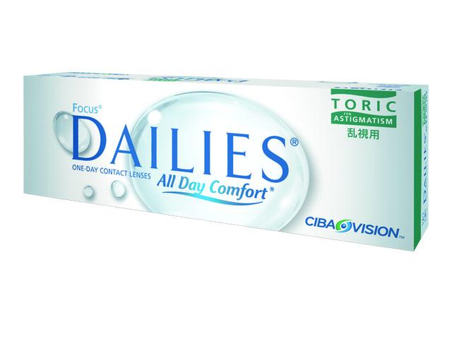 Контактные линзы Focus Dailies Toric (30 шт)