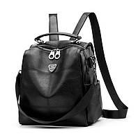 Женский городской рюкзак - сумка. Стильные женские рюкзаки черный, фото 1