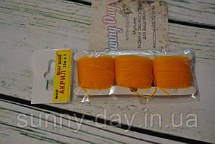 Акрил для вишивки, колір - діамантовий оранжево-жовтий