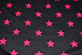 Французский трикотаж принт звезды
