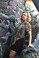 Туника леопардовая больших размеров