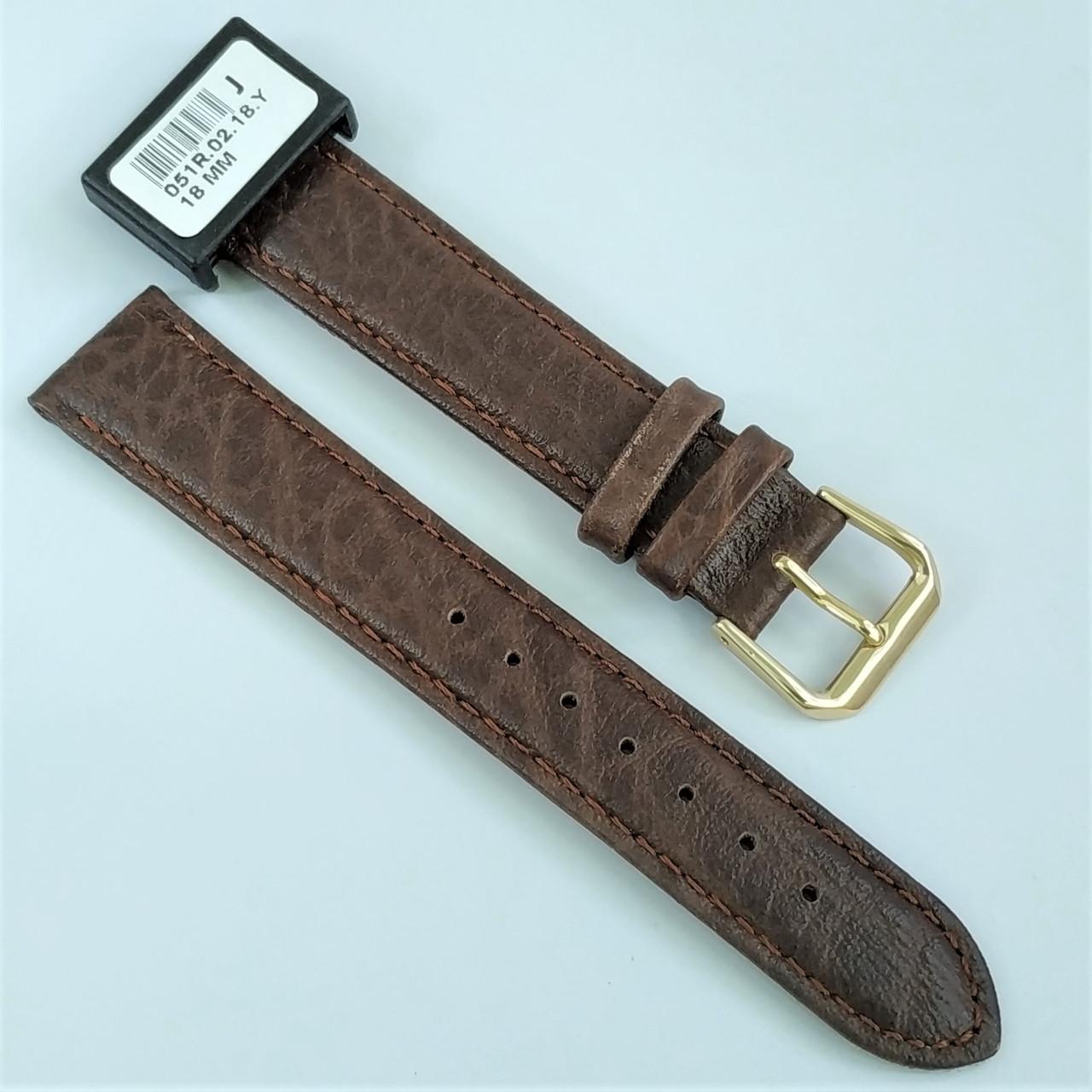 18 мм Кожаный Ремешок для часов CONDOR 051.18.02 Коричневый Ремешок на часы из Натуральной кожи