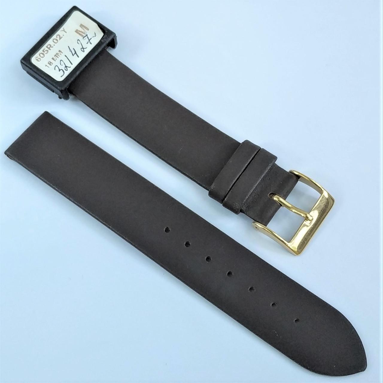 18 мм Кожаный Ремешок для часов CONDOR 605.18.02 Коричневый Ремешок на часы из Натуральной кожи