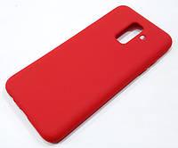 Чохол Silicone Cover для Samsung Galaxy A6 Plus A605 2018 / A6+ 2018 червоний