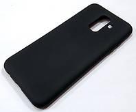 Чохол Silicone Cover для Samsung Galaxy A6 Plus A605 2018 / A6+ 2018 чорний