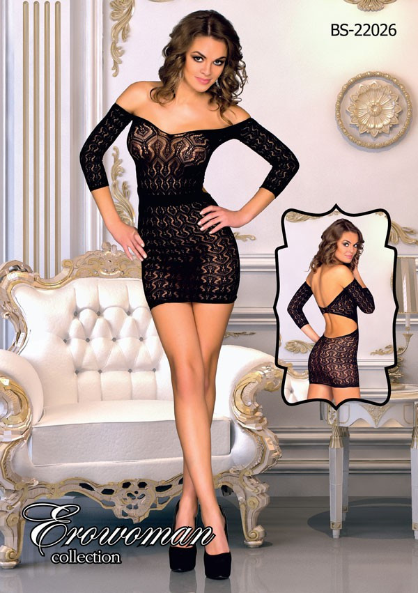 Сексуальное мини платье с рисунком One Size