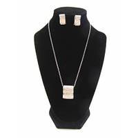 Комплект женской ювелирной бижутерии с камнями Код 1320b