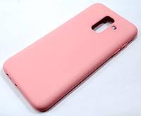 Чохол Silicone Cover для Samsung Galaxy A6 Plus A605 2018 / A6+ 2018 рожевий
