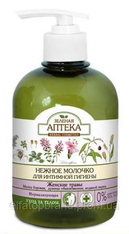Молочко для интимной гигиены  Нормализующее  с женскими травами     Зеленая аптека,370 мл