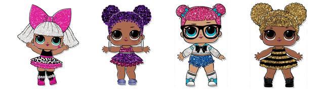 Куклы лол с глиттером для детской одежды