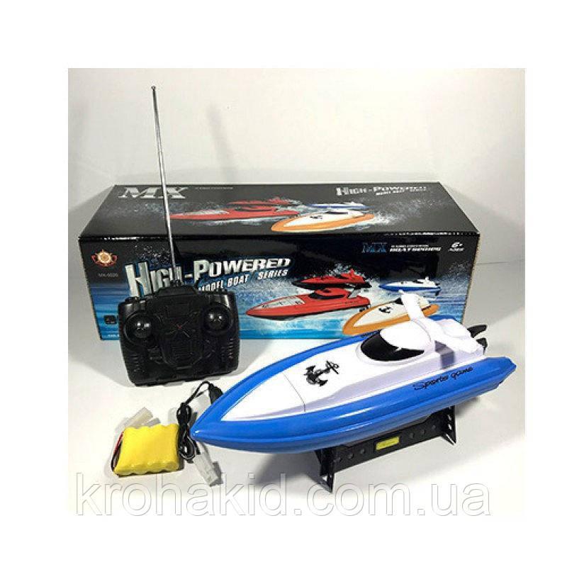 Детский гоночный катер на радиоуправлении MX-0020-4, аккум, 32см, зарядн, пульт