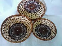 Конфетницы из лозы, набор 3 шт
