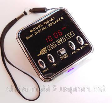 Mini Digital Speaker WS-A7  портативное радио колонка +TF , фото 2