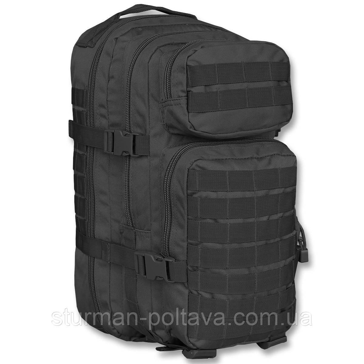 Рюкзак тактический  ASSAULT ( L -36 )  черный MiL-Tec    ГЕРМАНИЯ