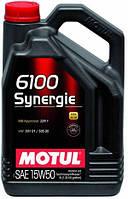 Масло моторное Technosynthese  MOTUL 6100 SYNERGIE SAE 15W50 (5L) 100328