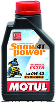 Масло моторное для снегоходов синтетическое MOTUL SNOWPOWER 4T SAE 0W40 (1L) 101230