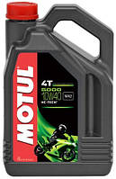 Масло моторное для мотоциклов полусинтетическое MOTUL 5000 4T SAE 10W40 (4L) 104056