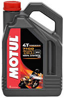 Масло моторное для мотоциклов синтетическое MOTUL 7100 4T SAE 15W50 (4L) 104299