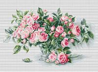 """Набор для вышивания крестиком (букеты) """"Этюд с чайными розами"""""""