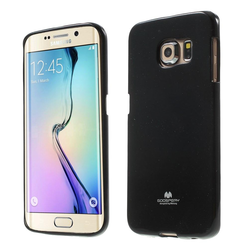 Чехол накладка силиконовый TPU Mercury для Samsung Galaxy S6 Edge G925 черный