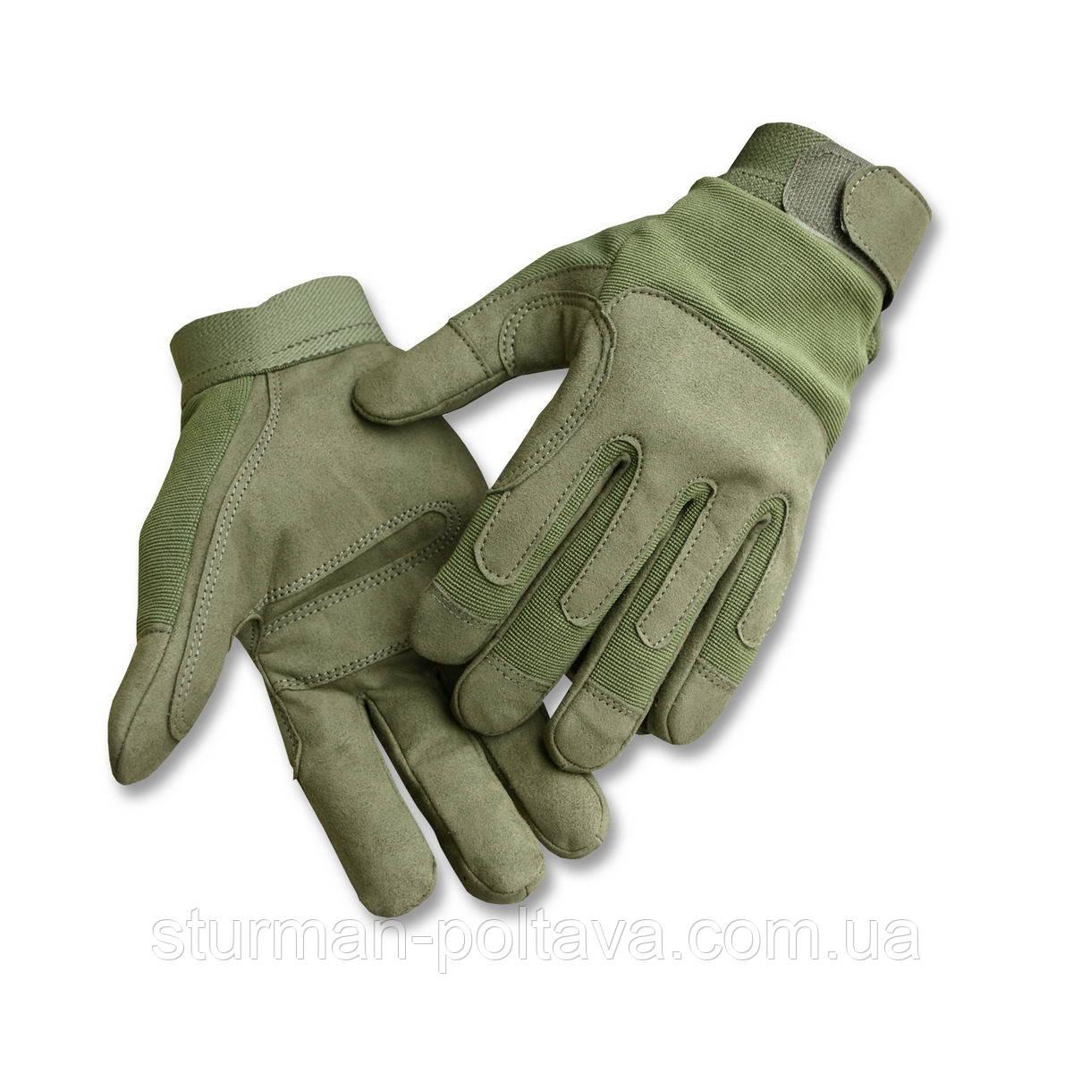 Рукавички чоловічі комбіновані тактичні армійські ARMY GLOVES OLIV Mil-Tec колір олива Німеччина